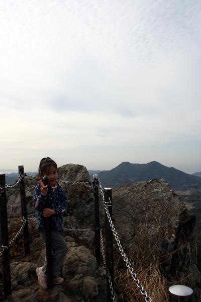 空、伊予ガ岳を踏む