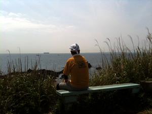 浦賀水道を眺める