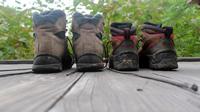 泥まみれの登山靴